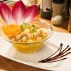 Fondant de carottes safranées, pétoncles de Saint-Jacques