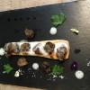 Tarte fine d'escargots de « Cours Cheverny » poêlés au jus d'ail et d'émulsion de persil en siphon