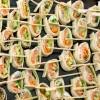 Wraps saumon crudités