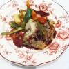 Pièce de bœuf en tête de choux, jus au vin rouge de bourgogne et poêlée de légumes de Provence
