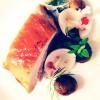 Travers de porc, champignons crus et marrons glacés