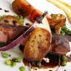 Magret rosé et légumes de saison