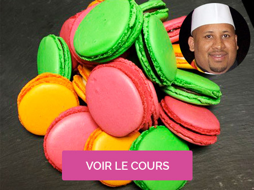 Cours de macarons Jonathan Maillot
