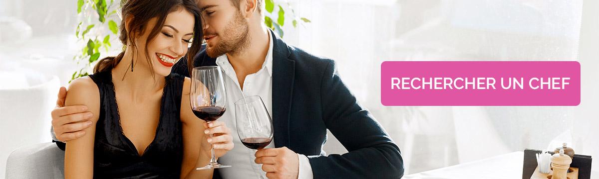diner en amoureux avec un chef à domicile