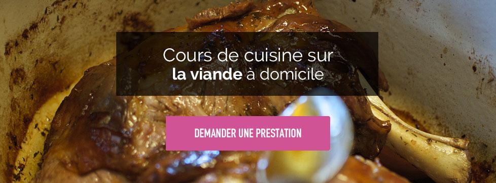 Cours de cuisine autour de la viande domicile avec un chef - Cours cuisine a domicile ...